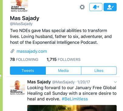 Sex cult leader Mas Sajady, alleged cheater.
